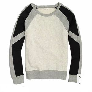 J Crew Color Block Sweatshirt